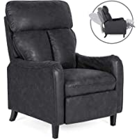 Deals on Faux Leather English Roll Arm Chair Recliner w/160-D Recline