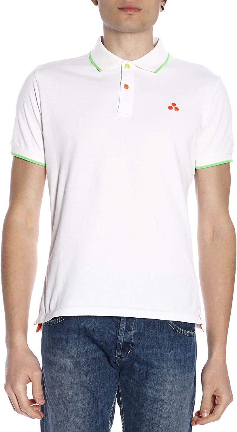 PEUTEREY Men's PEU314699010003 White Cotton Polo Shirt
