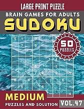 Sudoku Medium: suduko puzzle books for adults large print | 50 Medium sudoku books Puzzles and Solutions Large Print Perfect for Seniors (Sudoku Brain Games Puzzles Book Large Print Vol.47)