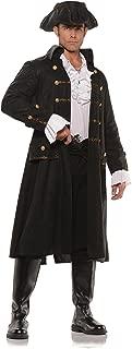 Underwraps Men's Captain Darkwater Black Pirate Costume