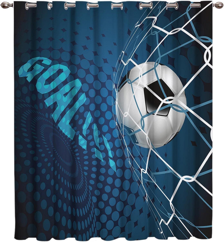 Elegant ASNIVI Blackout Curtains Soundproof-Sports Football Sports Flame Cheap sale