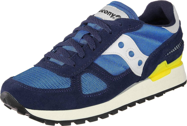 SAUCONY shoes men low sneakers S70424-7 SHADOW ORIGINAL VINTAGE size 42.5 bluee   yellow