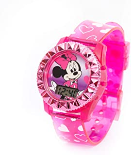Disney Minnie - Kids Digital watch with LED Flashing light - Outdoor Electronic Wristwatch (6-15 years Boys)