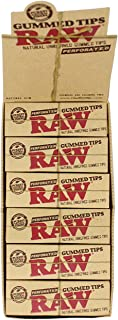 RAW Natural Gummed Tips Perforated Cigarette Rolling Paper 24 Packs Full Box