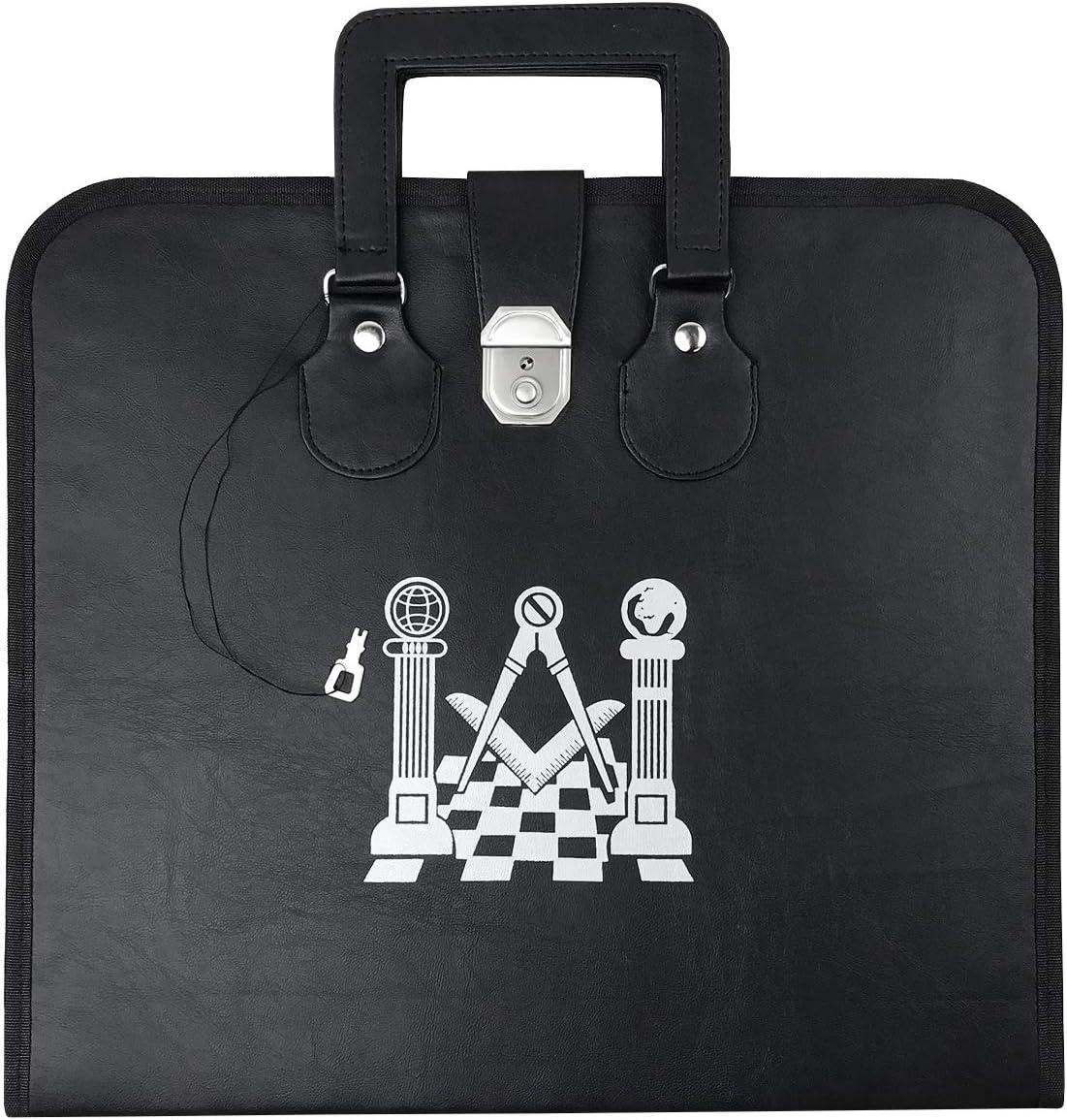 Masonic Apron Case with Overseas parallel import Max 86% OFF regular item Printed Pavement Pillars Logo MB034