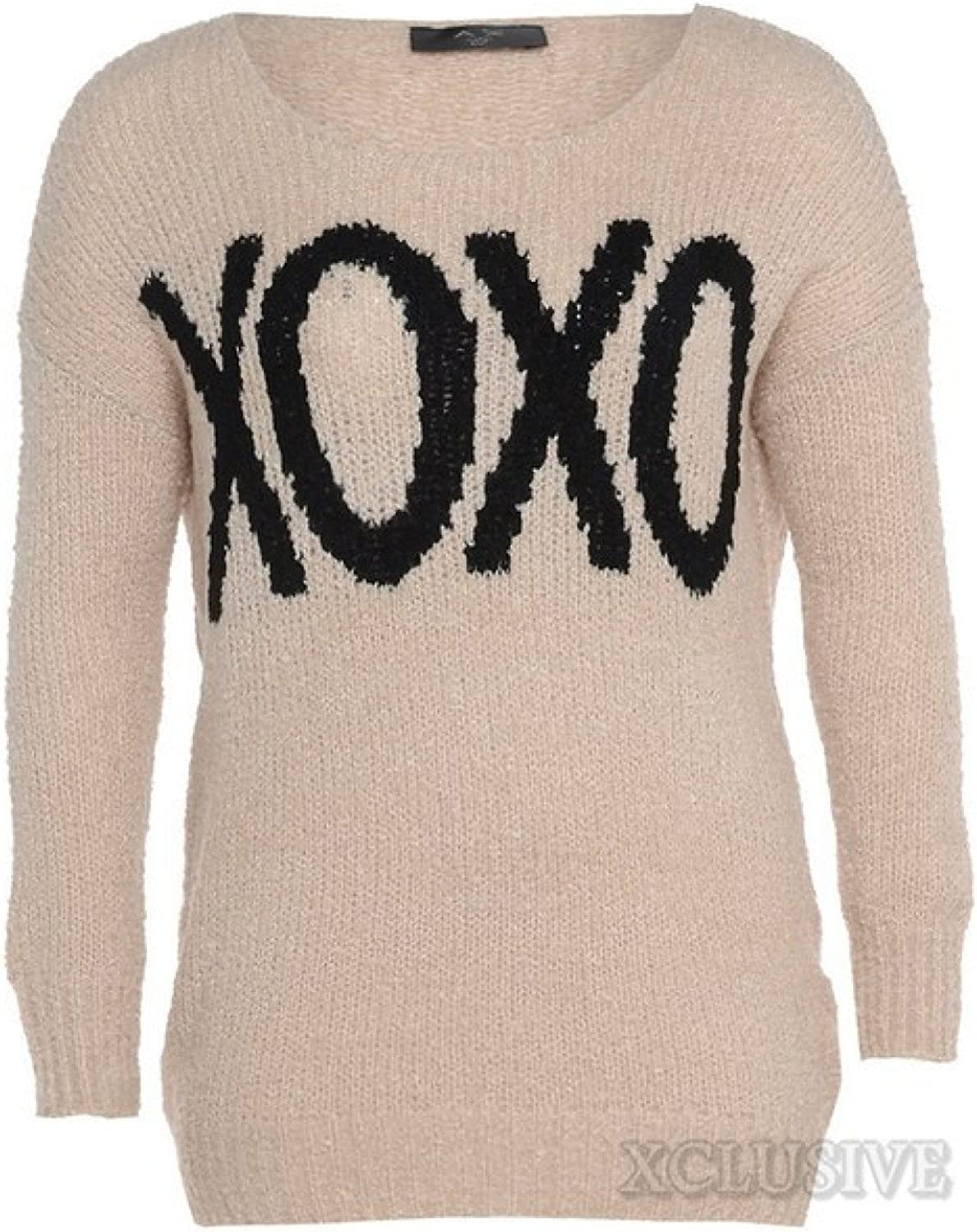 Women's Plus Size Knit Knitted Winter Jumper Top