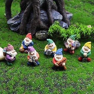 Panin 1/7 Pieces Miniature Garden Gnomes Decoration, Mini Gnome Figurines for Indoor Outdoor Fairy Garden Decor Micro Land...