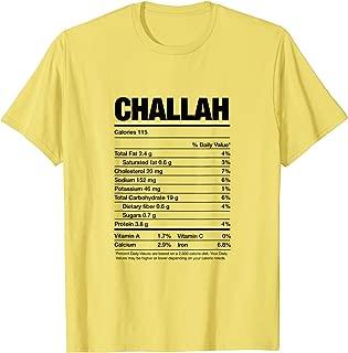 Nutrition Facts Challah Jewish Holiday Food Hanukkah Gifts T-Shirt