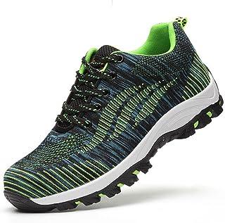 d9a54201 SUADEEX Mujer Hombre Zapatillas de Seguridad Deportivos con Puntera de  Acero S3 Zapatos de Trabajo Entrenador