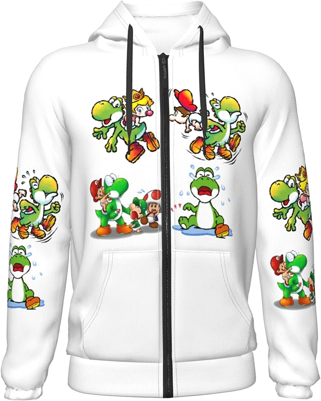 Yo-shi-Island_of_dreams Hoodies Full Zip Hooded with Pocket Fashion Sweatshirts Jacket for Boys Teen Kids Youth