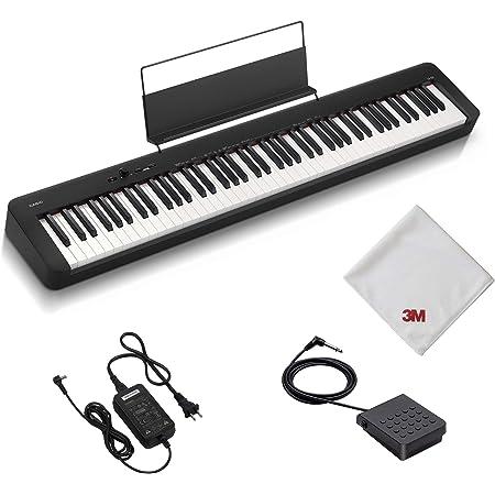【Amazon.co.jp 限定】カシオ(CASIO) 電子ピアノ CDP-S100AZ 88鍵盤 ハンマーアクション鍵盤 軽量&コンパクトで持ち運びに便利 乾電池でも使用可能