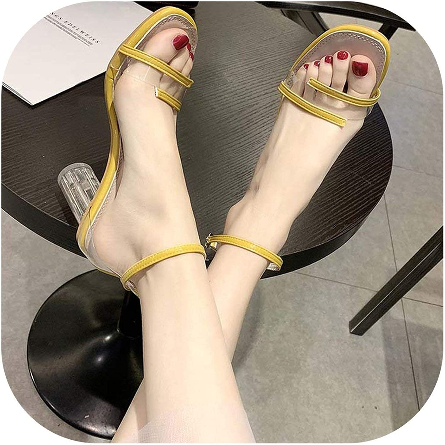 Flat Sandals Transparent Crystal Sandals Women's shoes with Sandals Wedding shoes