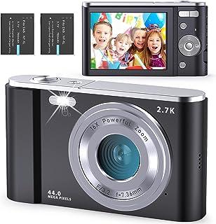 Compactas Cámaras Digitales FamBrow Camara de Fotos 2.7K 2.88 Pulgadas 44 megapíxeles con Zoom 16X Recargable UHD Cámara D...