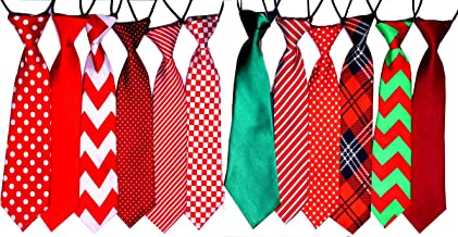 Yagopet 10pcs/pack Big Ties For Chrismtas Large Dog Ties Xmas Dog Large Neckties 22inches Bow Ties Cat Dog Ties for Christmas Festival Dog Collar Dog Grooming Accessories