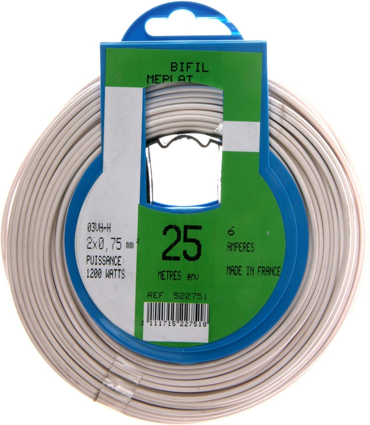Profiplast PRP522751 扬声器电缆 25 米 HO3VHH 2 x 0.75 毫米 白色