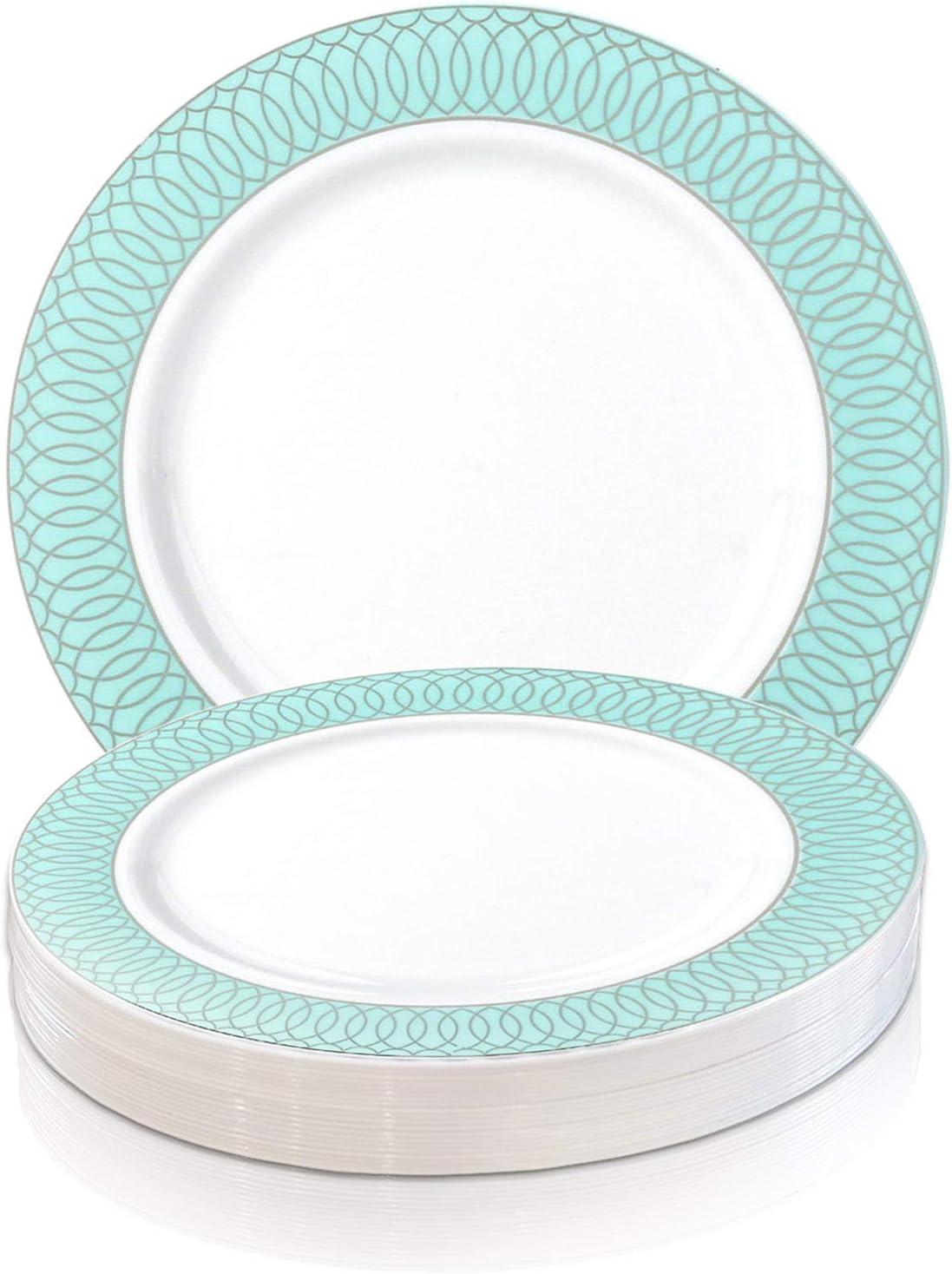 Elegant Disposable Plastic Dinner SALE 絶品 Plates Pcs - Heavy 10.25