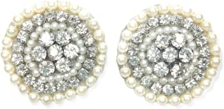 DUCHESS Crystal Embroidered Cloth/Fabric Cluster Earrings