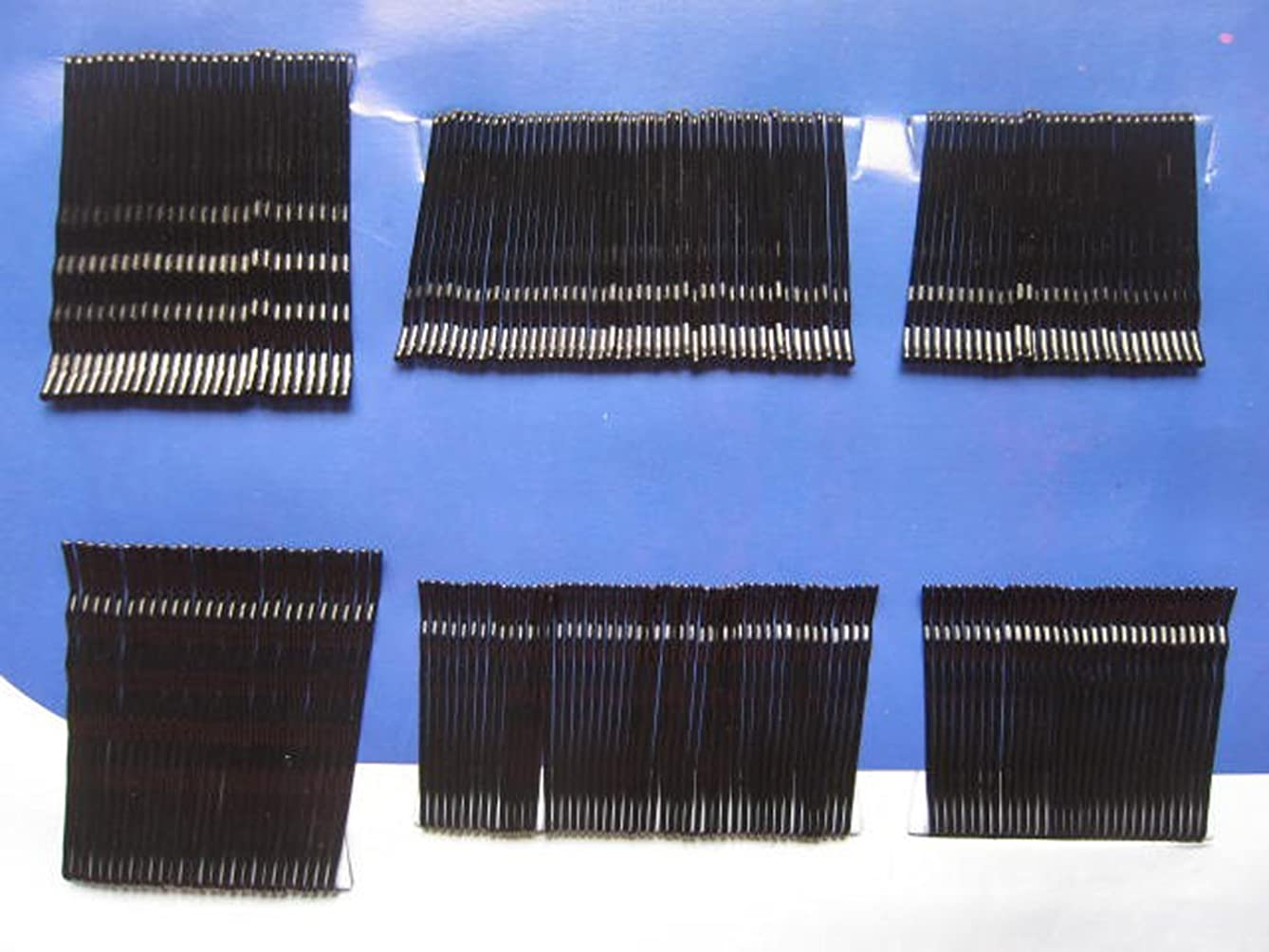 YYCRAFT Pack Of 200 Invisible Hair Clips Flat Top Bobby Pins Grips Salon-Black