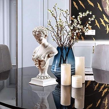 "11.8"" Classic Greek Venus de Milo Bust Statue, Resin Roman Goddess of Love and Beauty Sculpture Figurine for Home Décor,"
