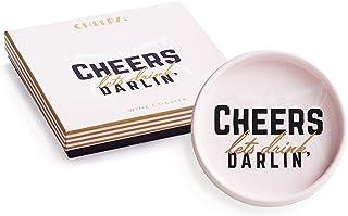 Rosanna Cheers Let's Drink, Darlin Wine Coaster, Multi