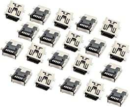 YXQ Mini USB Solder 5 Pin Type B Female Socket SMT SMD Adaptor Connector Plug Jack Connector Replacement(20Pcs)