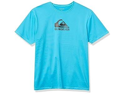 Quiksilver Solid Streak Short Sleeve Upf 50+ Sun Protection Surf Tee Rashguard Swim Shirt