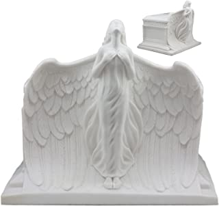 Ebros Heaven Bound Rising Angel Cremation Urn Statue Bottom Load Funeral Supply Wings Of An Angel Memorial Sculpture 240 Cubic Inches Capacity