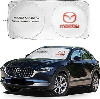 Car Windshield Sun Shade for Mazda Foldable Sun Visor Blocks UV Rays Durable Front Window Sunshade Cover for 2/3/6-Series ...