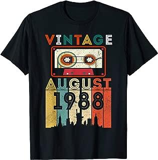 August 1988 Shirt Retro Vintage 31st Birthday Decoration T-Shirt