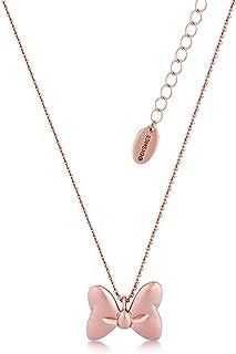 Disney Couture, collana di Minnie Mouse Rocks placcata in oro rosa, con fiocco