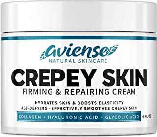Crepey Skin Treatment - Sagging Skin Tightening for Body & Face - Made in USA - Neck & Decollete Anti-Wrinkle Chest Cream ...