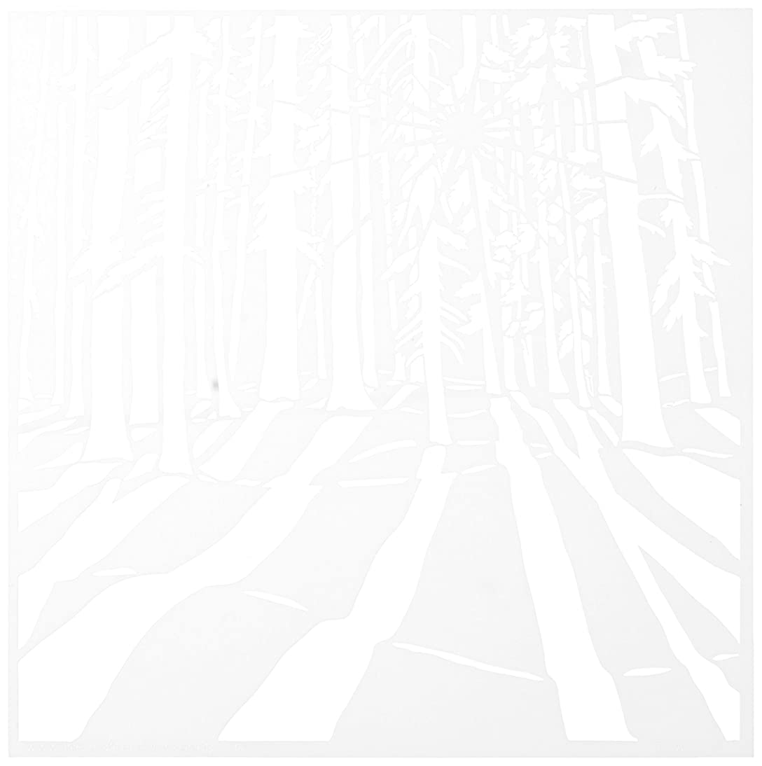 CRAFTERS WORKSHOP Sunlit Forest Template, 6 by 6