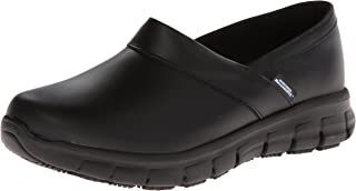 black leather nursing shoes