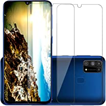 POPIO Tempered Glass for Samsung Galaxy M31 / Samsung Galaxy M21 (Transparent) Full Screen Coverage (except edges) with Easy Installation Kit, Pack of 2
