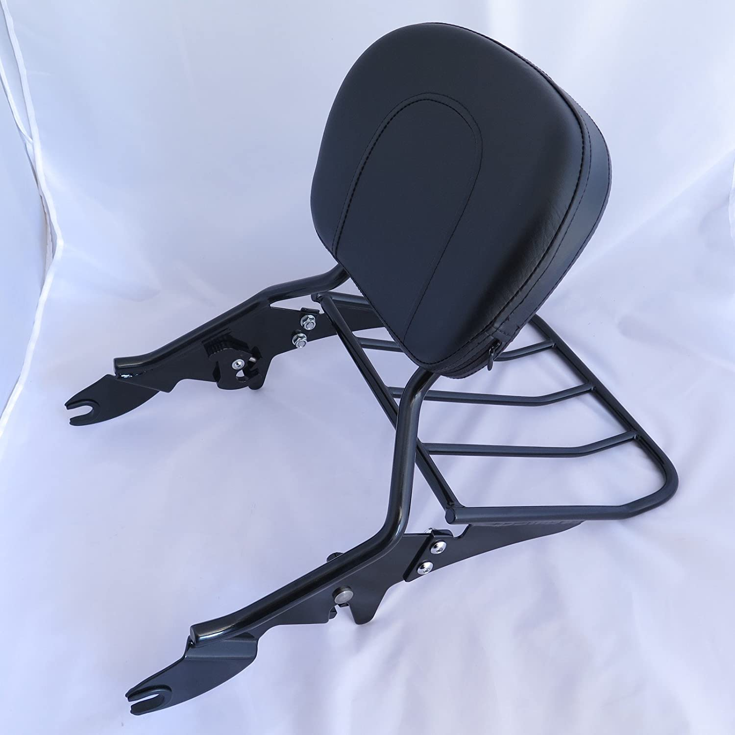 XKMT-Black Detachable Backrest Sissy Bar with Luggage Rack Compatible With 1997-2008 Harley Touring Electra Glide Road Glide Road King Street Glide B01LMV8FX4