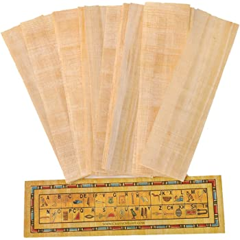 10 Blank Egyptian Papyrus Sheets for Art Projects and Schools 4x6 inch 10x15 Cm