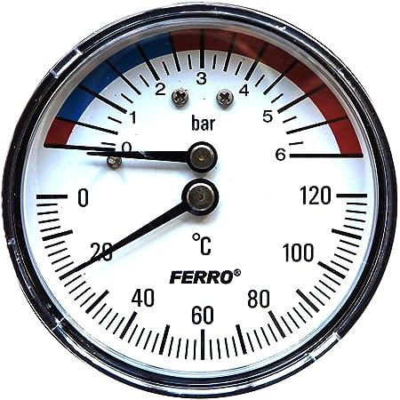 Afriso Thermo Manometer Tm80 63341 Axial Baumarkt