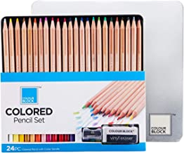 "Each Stick measures 2-3//4/""x2//5/"" and Comes in an Organized /& Convenient Storage Box Coloring Set for Artists and Students and as Oil Pastels for Kids COLOUR BLOCK 12-Piece Assorted Oil Pastels Set"