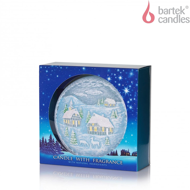 シャンプーメタン良さCandle with Fragrance Aromatic Winter ブルー Winter Christmas Disc