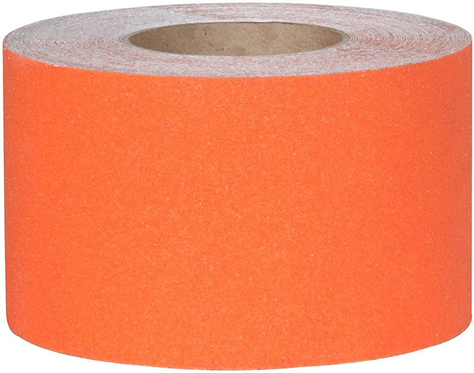 Jessup 3320-4 Safety Track Commercial Grade Non-Slip High Traction Safety Tape (Orange, 4-Inch by 60-Foot Roll, 3-Pack)