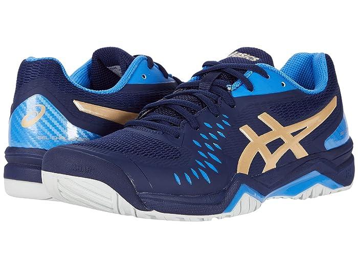 ASICS  Gel-Challenger 12 (Peacoat/Champagne) Mens Tennis Shoes