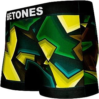 BETONES (ビトーンズ) メンズ ボクサーパンツ RALF KHAKI dwearsステッカー入り ローライズ アンダーウェア 無地 ブランド 男性 下着 誕生日 プレゼント