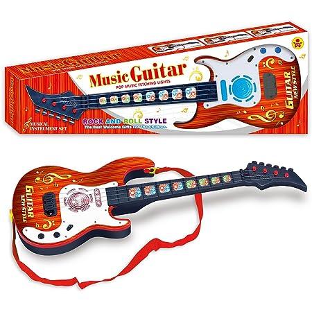 EXCEART 1Pc Kinderspielzeug Gitarre 4 Saiten Gitarre Musikinstrumente Lernspielzeug Mini Dinosaurier Gitarre Spielzeug f/ür Kinder Kinder