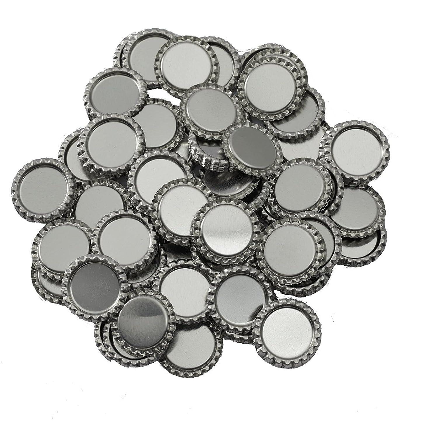 IGOGO 200 PCS Silver Chrome Bottle Caps for Hair Bows, DIY Pendants or Craft Scrapbooks neatgwnyect4