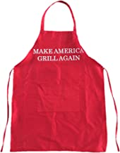 Drumpf.WTF Make America Grill Again Funny Red Chef Apron with Pocket Designed for Kitchen, BBQ, Tailgating or as a Gift for Men and Women