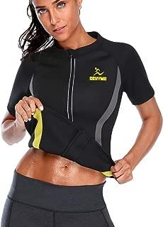SEXYWG Women Hot Sweat Weight Loss Sauna Shirt Neoprene Top Workout Body Shaper Slimming Training Suit