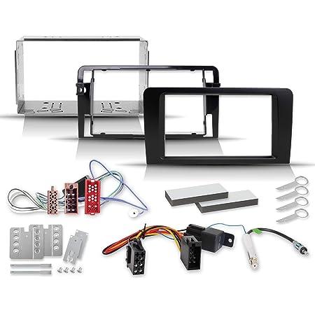 A3 Und S3 2 Din Einbauset Mit Radioblende Iso Elektronik