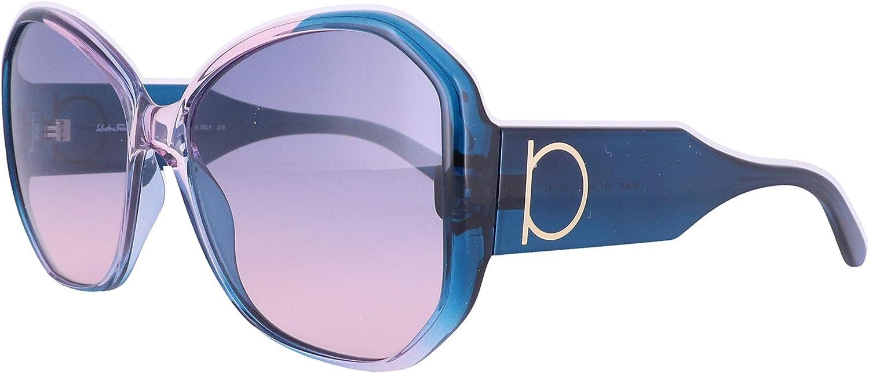 Sunglasses FERRAGAMO 割引 SF 新作 942 S Blue Gradient Antique Rose 431