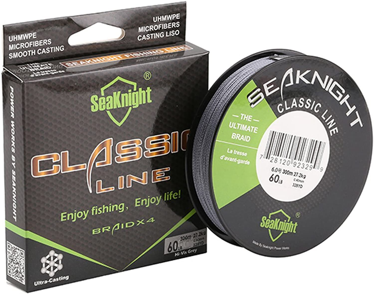 SeaKnight Upgrade Braided Fishing Line More Duarble 300M 327Yds 500M 547Yds Line Thinner,Stronger and Smoother