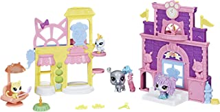 Littlest Pet Shop Prep 'n Party Double Playset Toy, Sparkle Deco, Includes Fan-Voted Pet, Ages 4 and Up (Amazon Exclusive)